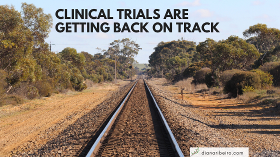 Clinical trials are getting back on track graphic